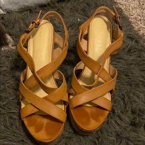Tribal wedge heel